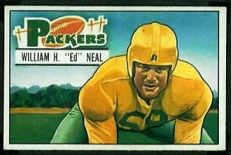 Ed Neal 1951 Bowman football card