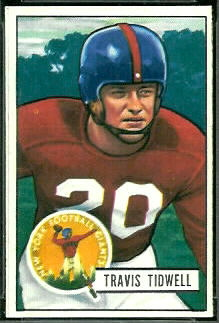 Travis Tidwell 1951 Bowman football card