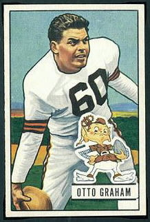 Otto Graham 1951 Bowman football card