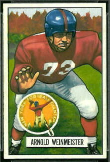 Arnie Weinmeister 1951 Bowman football card