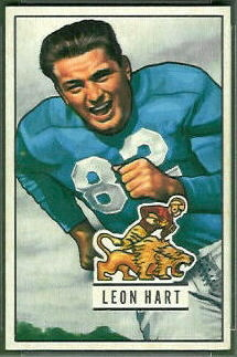 Leon Hart 1951 Bowman football card