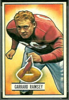 Buster Ramsey 1951 Bowman football card