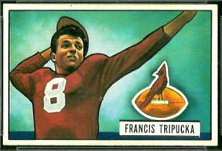 Frank Tripucka 1951 Bowman football card