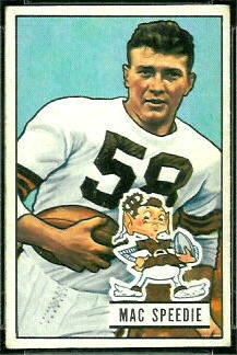 Mac Speedie 1951 Bowman football card