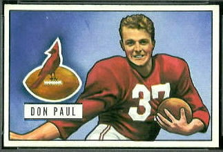Don Paul 1951 Bowman football card