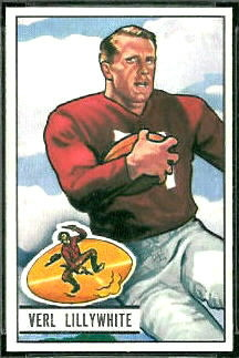 Verl Lillywhite 1951 Bowman football card