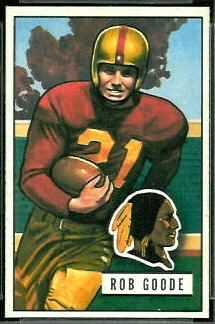 Bob Goode 1951 Bowman football card