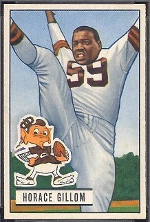 Horace Gillom 1951 Bowman football card