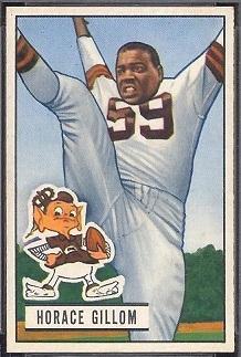 Horace Gillom 1951 Bowman football card