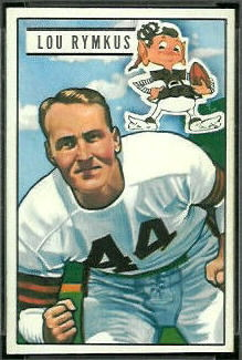 Lou Rymkus 1951 Bowman football card