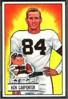 Ken Carpenter 1951 Bowman football card