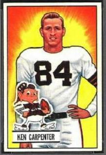 Ken Carpenter 1951 Bowman football card