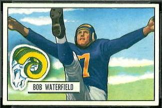 Bob Waterfield 1951 Bowman football card