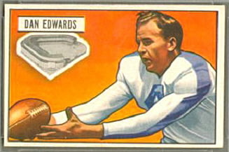 Dan Edwards 1951 Bowman football card