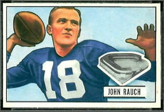 John Rauch 1951 Bowman football card