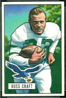 Russ Craft 1951 Bowman football card