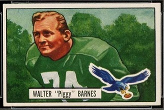 Walter Barnes 1951 Bowman football card