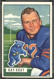 Ray Bray 1951 Bowman football card
