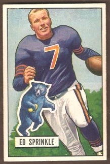 Ed Sprinkle 1951 Bowman football card