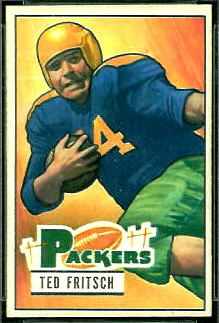 Ted Fritsch Sr. 1951 Bowman football card