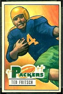 Ted Fritsch Sr. 1951 Bowman football card