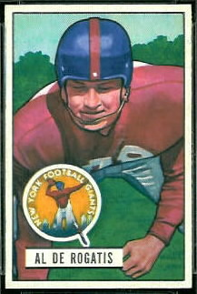 Al DeRogatis 1951 Bowman football card