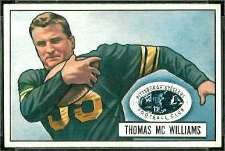 Tom McWilliams 1951 Bowman football card