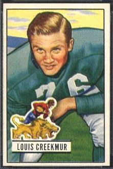 Lou Creekmur 1951 Bowman football card