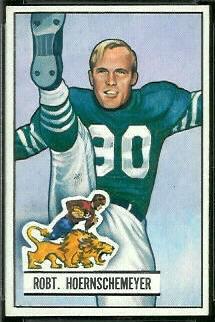 Bob Hoernschemeyer 1951 Bowman football card