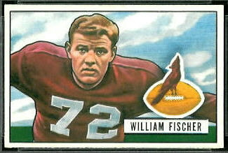 Bill Fischer 1951 Bowman football card