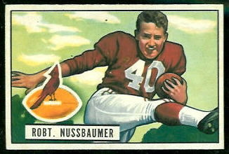 Robert Nussbaumer 1951 Bowman football card