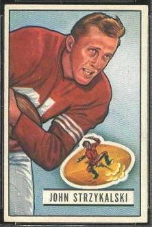 John Strzykalski 1951 Bowman football card