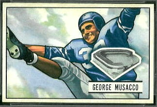 George Musacco 1951 Bowman football card