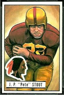 Pete Stout 1951 Bowman football card