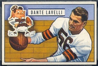 Dante Lavelli 1951 Bowman football card