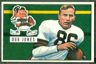 Dub Jones 1951 Bowman football card
