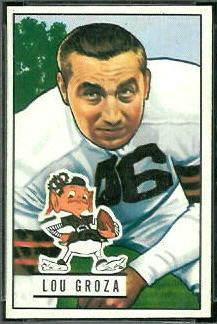 Lou Groza 1951 Bowman football card