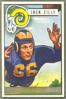Jack Zilly 1951 Bowman football card