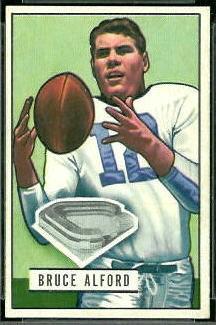 Bruce Alford 1951 Bowman football card