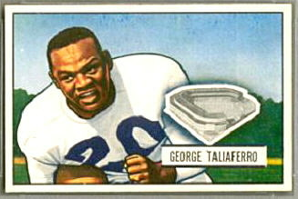 George Taliaferro 1951 Bowman football card
