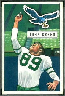 John Green 1951 Bowman football card