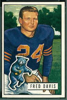 Fred Davis 1951 Bowman football card