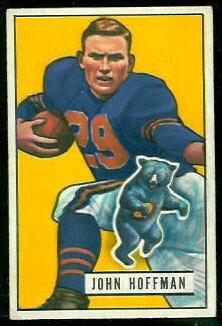 John Hoffman 1951 Bowman football card