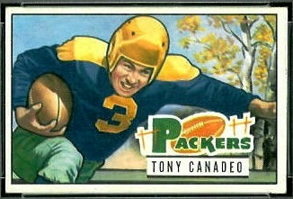 Tony Canadeo 1951 Bowman football card