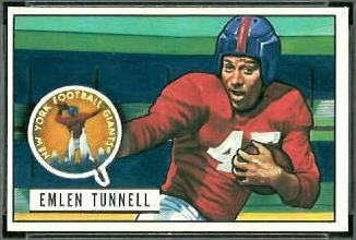 Emlen Tunnell 1951 Bowman football card