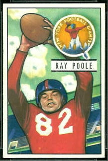 Ray Poole 1951 Bowman football card