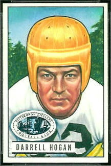 Darrell Hogan 1951 Bowman football card