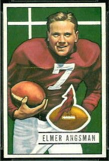 Elmer Angsman 1951 Bowman football card