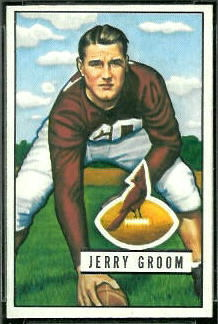 Jerry Groom 1951 Bowman football card