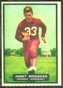 Jimmy Monahan 1951 Topps Magic football card
